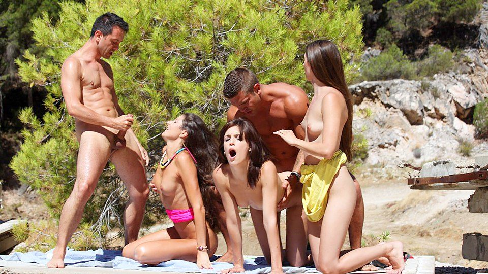 Sex swinger party beach
