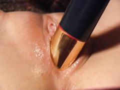Brunette curly lesbo pussyfucked each other