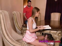 Brunette Hottie Jill Kassidy Blows Brothers Hung Buddy