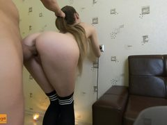 Super-Hot first-timer lady slimsonya boinking in her booty in rented appartment