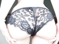Hot girl takes off her panties and fingers her vagina hole