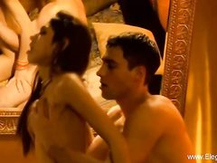 Indian brown-haired is intensively making enjoy with a sexy fellow she is in enjoy with